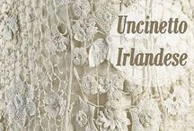 UNCINETTO IRLANDESE IRISH CROCHET