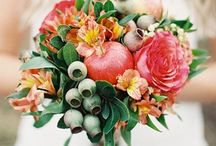 Flower and fruit bouquet