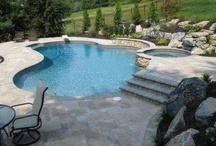 Natural stone and rock pools