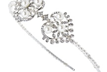 wedding hair accessories from www.louloubelle.co.uk / crystal, pearl and diamante wedding hair accessories from Lou Lou Belle Designs