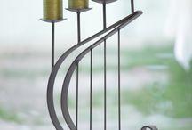 candle holders / forged handmade work- umelecké kovácstvo, stojany na vina, svietniky, bytové doplnky