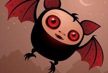 BATS / Creepy cute night flyers... enter the Bat cave.