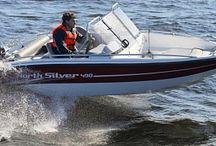 Катер NorthSilver 490 / Удобная во всех отношениях моторная лодка, мечта рыбака и охотника. Она обладает отличными ходовыми качествами. Прочный корпус и малая осадка позволяют пройти по мелководью за щукой или спрятаться в камышах, поджидая прилёта дичи. Гарантия хорошего настроения просто обеспечена, даже если погода в этот день испортится.