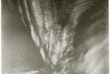 """Fotografia e pintura / Painel montado a partir de referências encontradas no programa da disciplina """"Fotografia e Pintura: Estratégias da Produção Fotográfica da Modernidade à Pós-Modernidade"""", do Programa de Pós-Graduação e Artes Visuais (2010) ."""