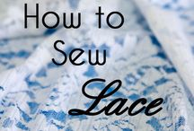 how to sew lace