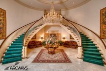 Symmetrical Stairways / Create a dramatic effect in any entrance with our custom symmetrical staircases.