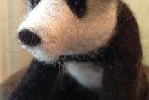 Pandas / Inspiration for Craftwerk Panda needle felting kit made from British wool