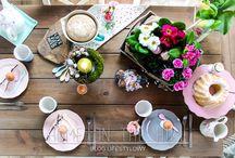 Easter / wielkanocne inspiracje, ozdoby, wielkanocny stół
