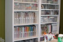 Craft storage &  work space / Ideas for my craft area / by Sandra Fox
