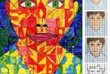 elementary art - portraits