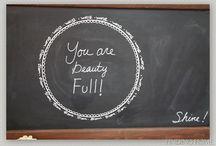 Chalk Board Ideas / by Amy Gower