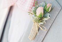 Boutonnière mariage / style de boutonnière pour le marié les témoins et garçons d'honneurs