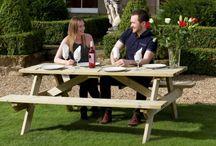 Wooden Garden Picnic Tables & Benches / Range of wooden picnic tables and wooden picnic benches for 2017