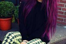 cheveux de couleur