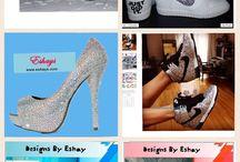 Rhinestone Nikes / This shoe collection has glitter nikes glitter kick from Eshays, LLC. #CustomShoes #BlingShoes #CustomizedSneakers #Glitterkicks #RhinestoneShoes