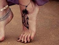 tatouage attrape reve pied