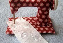 Maquinas de costura em tecido
