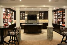 """From the Kitchen to the """"Man Room"""" / Designer:  Hans Englehart     Dealer: Cabinet Discounters - Gaithersburg Photographer: Dan Krotz  Specie:  Maple Finish:  White / Peppercorn Door style:  Shaker / Ramsey Overlay: FOLC Drawer Front:  5pc Flat"""