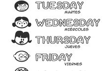 Months, days of the week