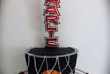 Basketball themed party events / Decorations for a Hoop-la!