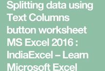 Excel - Text to column