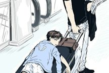 Levi and child Eren