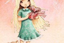 Рисованные девочки