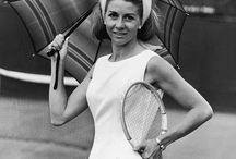 Vintage Tennis / How tennis uses to be in fashion, courts, racquets.  Hairs styles, length of shorts.