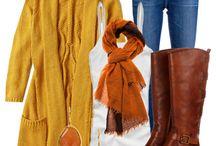 sárga, okker őszre és télre