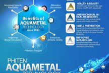 Phiten Technology / The core of Phiten Technology lies within AQUA-METALS™ – created through a number of unique, patented, proprietary processes that, in part, breaks down specific metals into nanoscopic particles dispersed in water, essentially creating a hydro-colloidal metal.