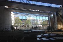 école et centre de loisirs Rosa Parks et complexe sportif Nelson Mandela à Rouen / Photos de visite à Rouen le 16 avril dernier sur le chantier de l'école, centre de loisirs et complexe sportif  rue des Murs Saint-Yon.
