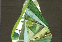 Patchwork vzory - twister triangel