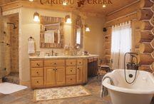 Caribou Creek Bathrooms / Different bathrooms built by Caribou Creek Log & Timber