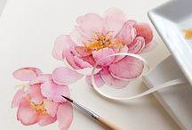 flower tattoo watercolor peony