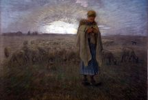 Jean Francios Millet / A French painter that categorized in naturalism, but could also be classified as a realism artist. He is noted for his genre scenes of peasant farmers. He served as an inspiration to Van Gogh (self-portrait).