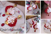 Rosso come il Natale... / Se vi piacciono i miei orecchini cliccate sul link sottostante e votateli, in modo che possano vincere il contest a cui partecipano. Grazie! ^_^  http://www.noiartisti.it/concorso-natale-in-arte/