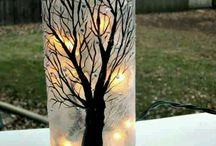 painted glass crafts