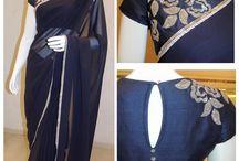 Saree with gorgeous blouse