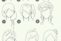 how to draw -hairstyles