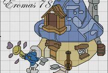 Hupikéktörpikék háza