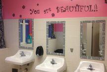 School bathroom makeover