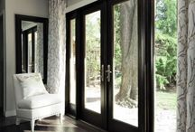 french doors in party room