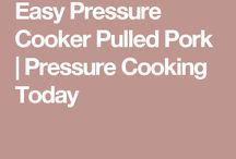 Pulled pork in pressure cooker
