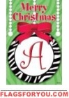 Zebra Ornament Monogram Flags