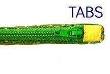 zipper tabs