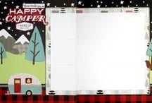 Camping Scrapbook layouts