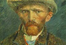 Artists:  Vincent Van Gogh / His works, life, quotes, etc.-Vincent Willem Van Gogh; Noted Post Impressionist painter; b. 3-3-1853 Zundert, Netherlands; d. 7-29-1890 Auvers-sur-Oise, France.  Noted for his rough beauty, emotional honesty, bold colors in his works. / by Joanne Ellis