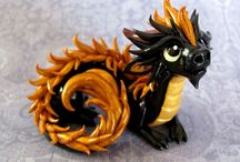 dragon from clay