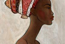 African woman art...