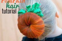 halloween włosy